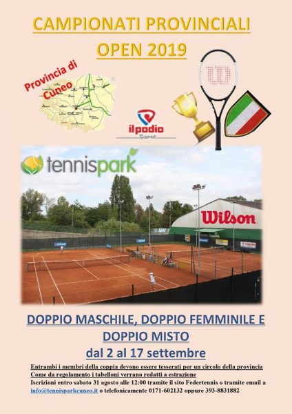 Tennis – campionati provinciali 2019